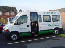 Photograph: Renault Traffic Master in the livery of Lutterworth Community Transport.